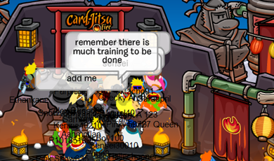 Sensei in Fire Dojo Volcano Club Penguin