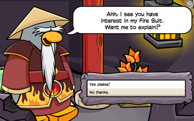 Sensei tells Amulet Secret Card-Jitsu FIRE