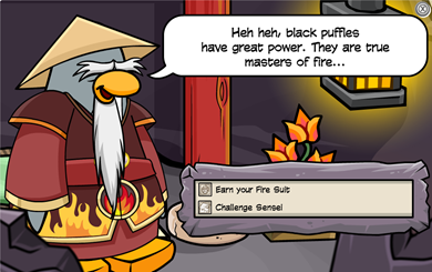 Card-Jitsu FIRE Game Club Penguin
