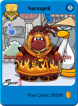 NINJA FIRE Suit on Saraapril Card-Jitsu CP