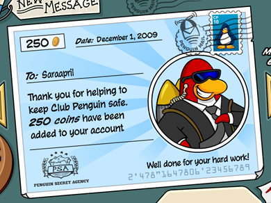 Paycheck in Club Penguin