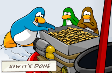 Coins for Change Club Penguin