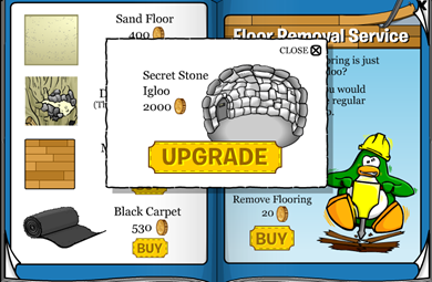 Secret Stone Igloo Club Penguin