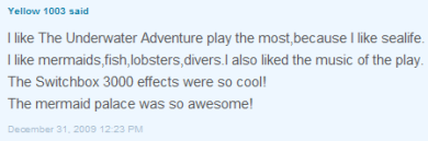 Yellow 1003's comment Posted on Club Penguins What's New Blog