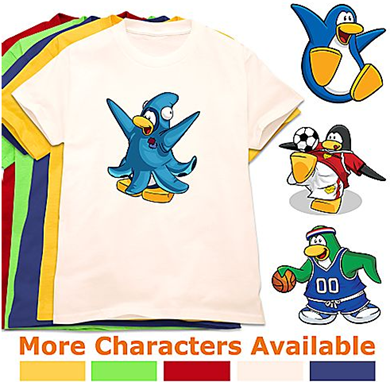 Create-Your-Own Club Penguin Tee for Kids :)