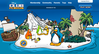 Club Penguin Home Page :)
