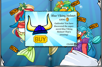 BLUE Viking Helmet :)