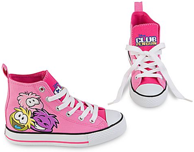 High Top Club Penguin Sneakers for Girls :)