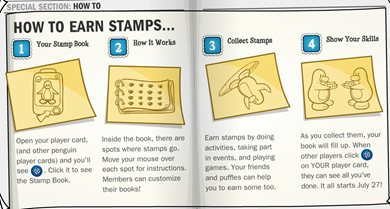 How to Earn STAMPS in Club Penguin :)