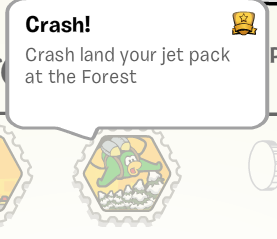 Crash land your Jet Pack at The Forest Stamp :)