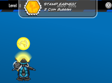 2 Coin Bubbles Stamp Earned :)