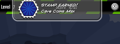 Cave Coin Max Stamp Earned  :)