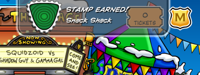 Snack Shack Stamp Earned :)