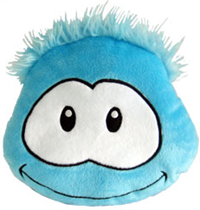 Club Penguin Puffle Cushion – Blue :)
