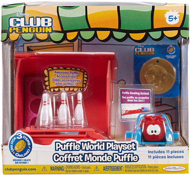 Disney Club Penguin Wave 4 Puffle World Playset - Bowling :)