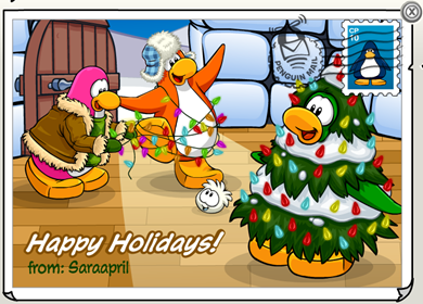 Holiday Postcards in Club Penguin