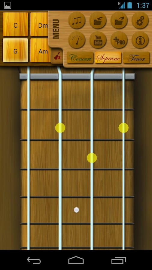 Play Ukulele Pro - screenshot