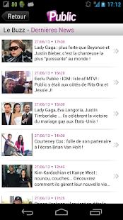 Public : Toute l'actu people - screenshot thumbnail