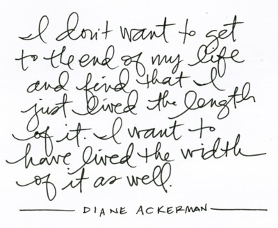 quote diane ackerman patterson