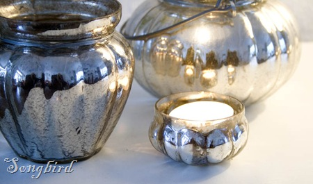 Mercury silver candle holders