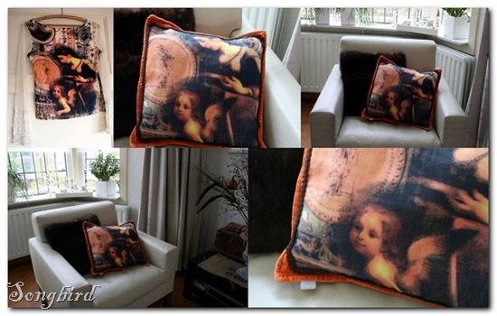 Shirt turns pillow collage