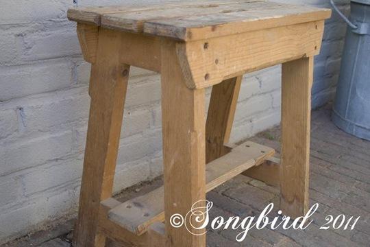 Sawhorse chair before