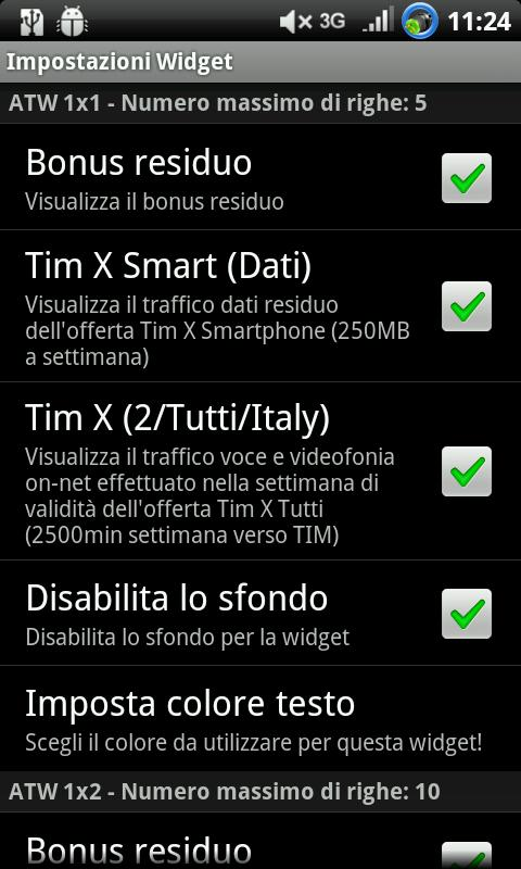 AndroTimWidget Lite via sms - screenshot