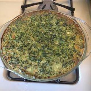 Spinach and Spaghetti Squash Quiche Recipe