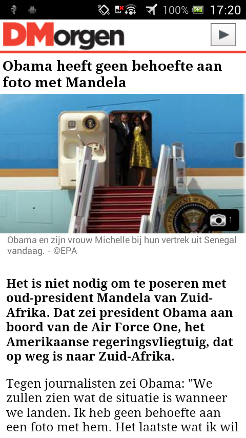 DeMorgen.be Mobile - screenshot