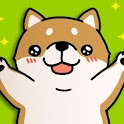 Tickling dog icon
