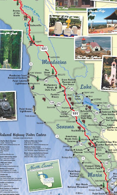 Map Of California Redwoods.Sonoma News Today 2009 Map Of Redwood Highway