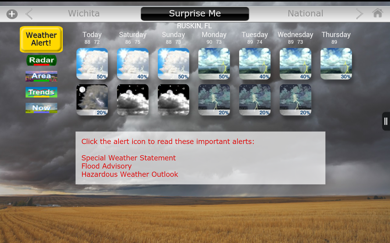 Weather4us- screenshot