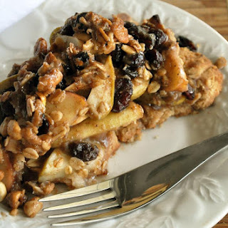 Maple Apple Granola Crumb Pie with Peanut Butter Shortbread Crust