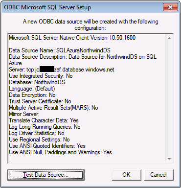 OakLeaf Systems: Linking Microsoft Access 2010 Tables to a SQL Azure