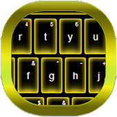 Yellow Neon Keyboard GO