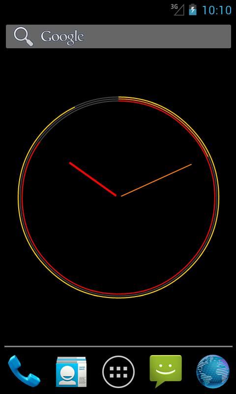 Serious Clock Live Wallpaper - screenshot