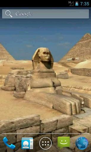 Pyramids 3D. Live wallpaper.