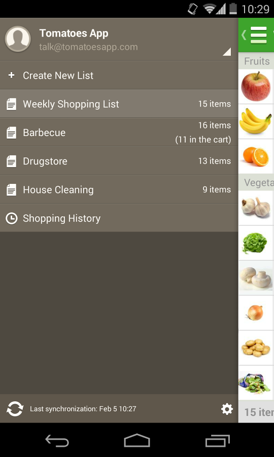 Grocery List - Tomatoes - screenshot