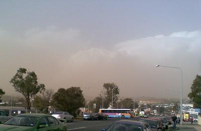 Dust clouds over Belconnen