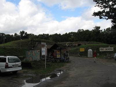 Fort Zachodni - wejście