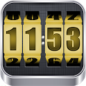 3D Rolling Clock GOLD icon