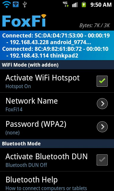 FoxFi AddOn- screenshot