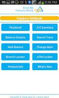 Screenshot of CANARA e-INFOBOOK
