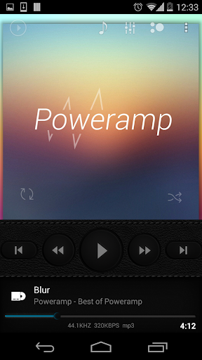 Skin for Poweramp Dark Leather  screenshots 2