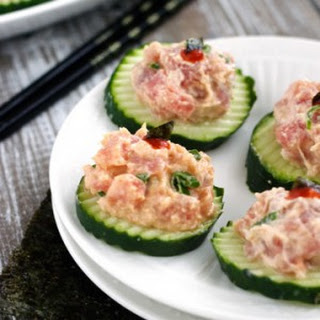Spicy Tuna Bites {Low Carb, Low Calorie, Low Fat, High Protein & GF}.