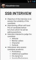 Screenshot of SSB INTERVIEW