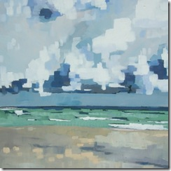 Artwork Seastate mod to rough Duquesa beach Acrylic on Canvas 50 x 50 cm Rob Miller