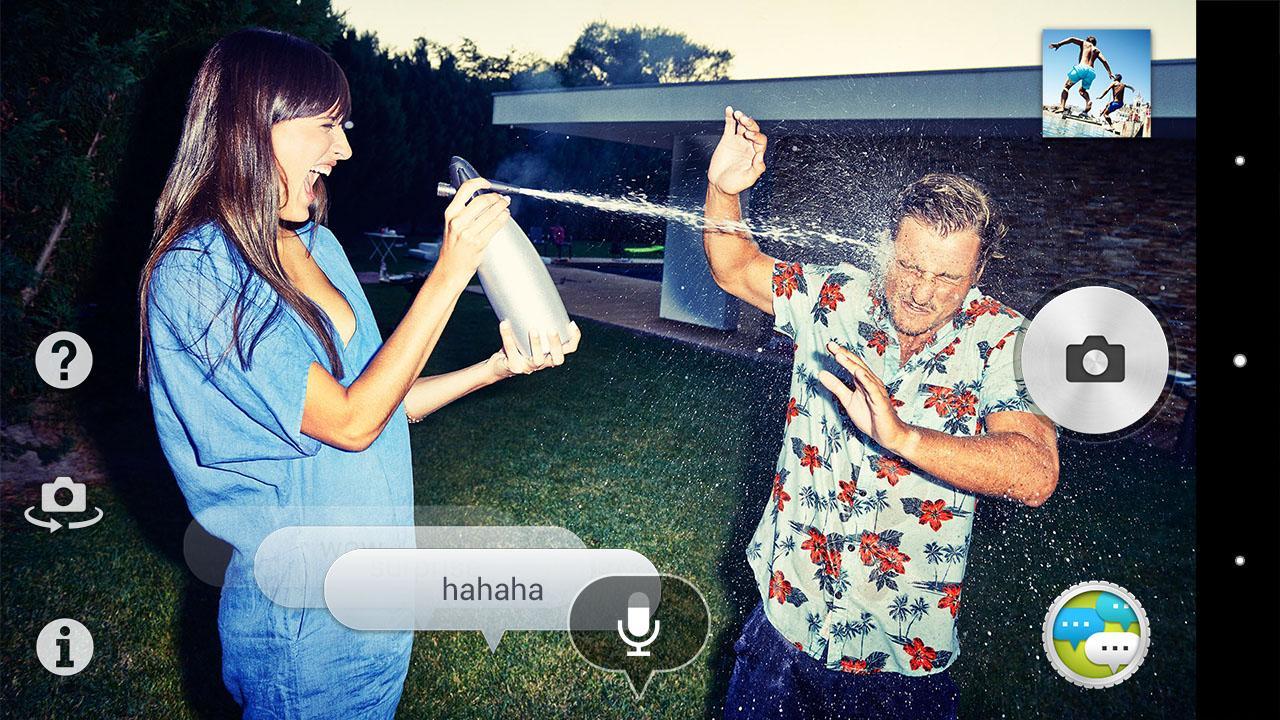 Voice balloon photo- screenshot