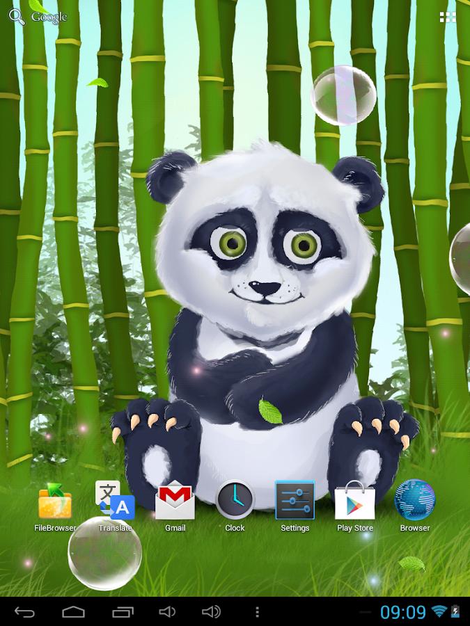 sleepy panda live wallpaper android apps on google play