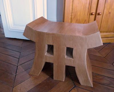 fait main par thecook un tabouret en carton. Black Bedroom Furniture Sets. Home Design Ideas